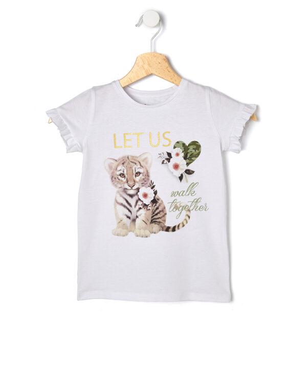 T-shirt mezza manica con stampa tigre - Prénatal