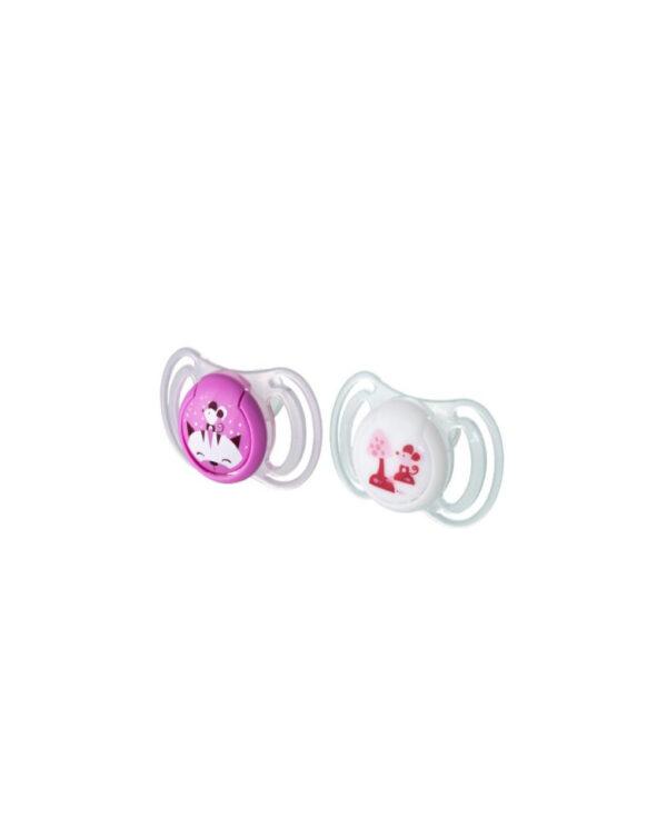 Succhietti light silicone 6m+ rosa - Neo Baby