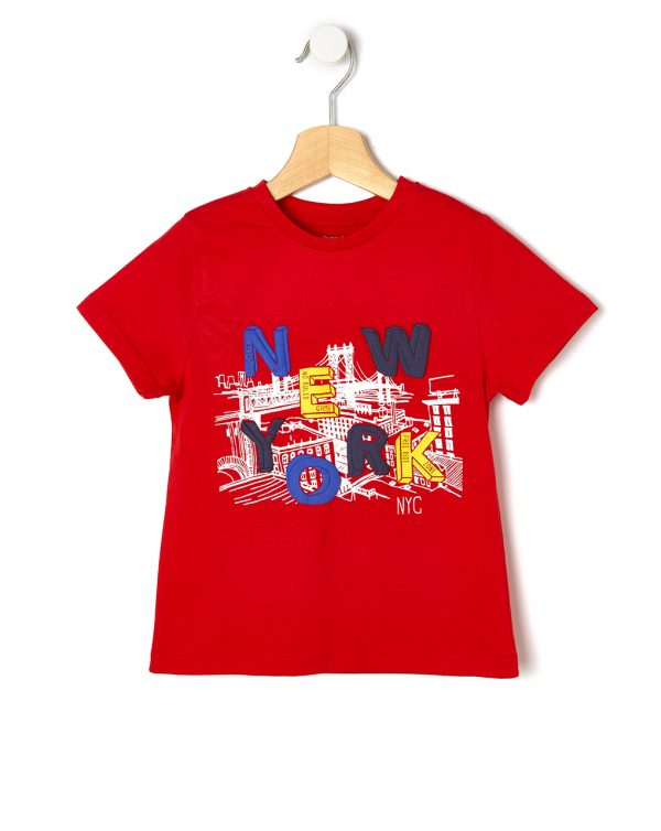 T-shirt mezza manica con stampa gommata - Prenatal 2