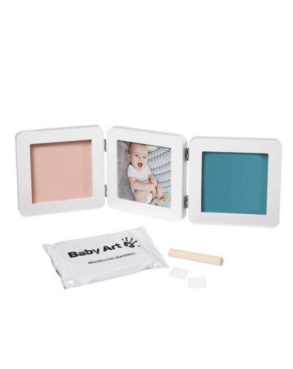Baby Art portafoto My Baby Touch doppio - bianco - Baby Art