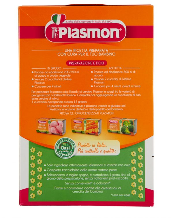 Pastina Plasmon stelline – 340 gr - Plasmon