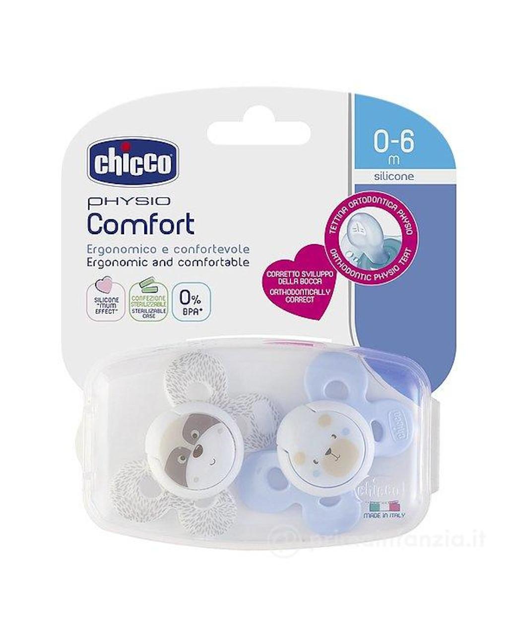 Succhietto comfort bimbo silicone 0-6m 2 pezzi chicco - Chicco