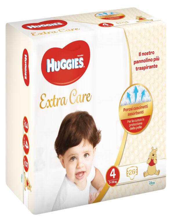 Huggies - Pannolini Extra Care medio tg. 4 (26 pz) - Huggies