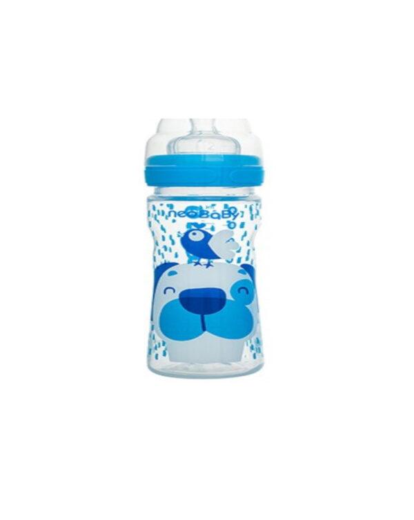 Biberon collo largo silicone blu 250 ml - Neo Baby