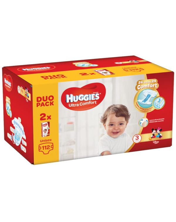 Huggies - Pannolini Ultra Comfort duopack tg. 3 (112 pz) - Huggies