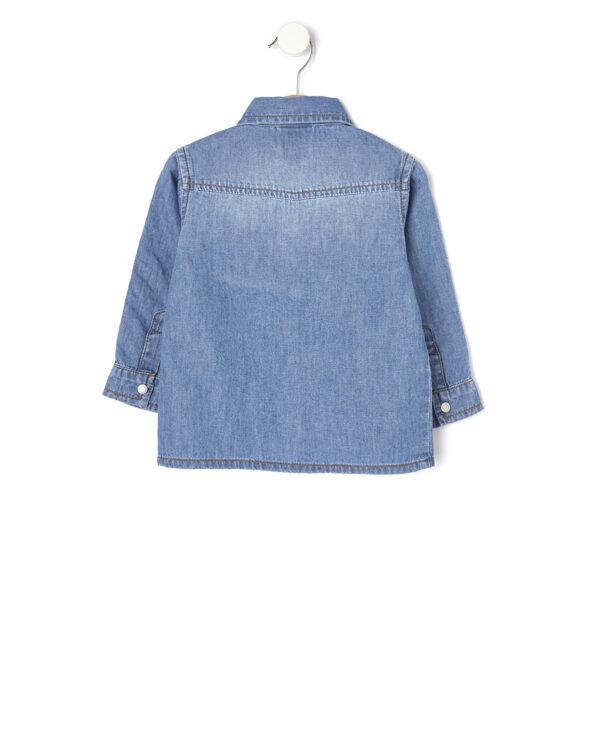 Camicia manica lunga in denim - Prenatal 2