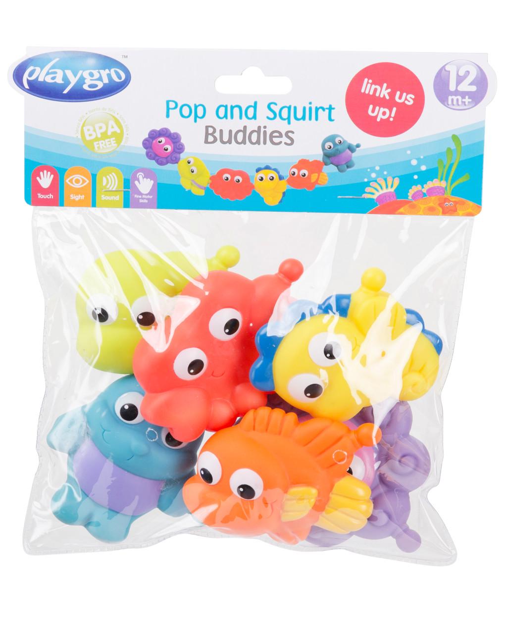 Playgro - pop and squirt buddies (6pcs) - Playgro