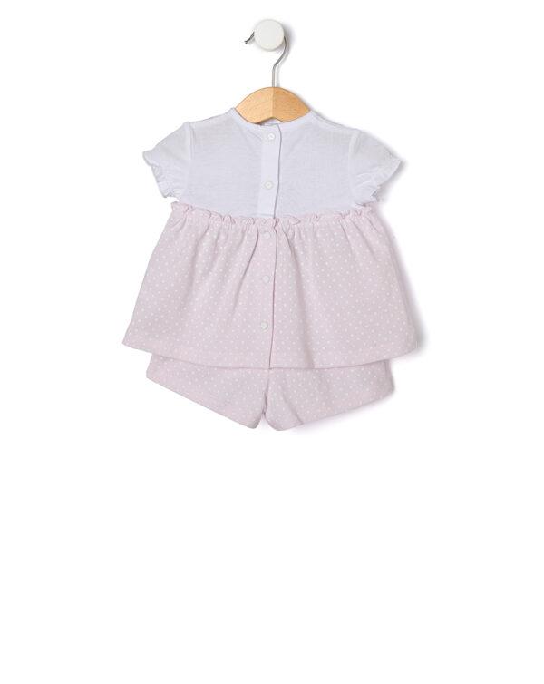 Completo 2 pezzi in jersey con stampa a pois - Prenatal 2