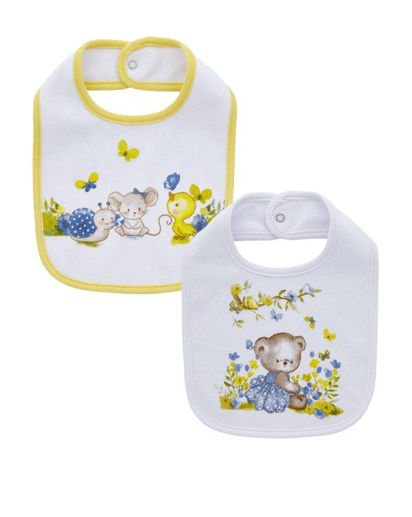 Pack 2 bavaglini interlock con animaletti - Prenatal 2