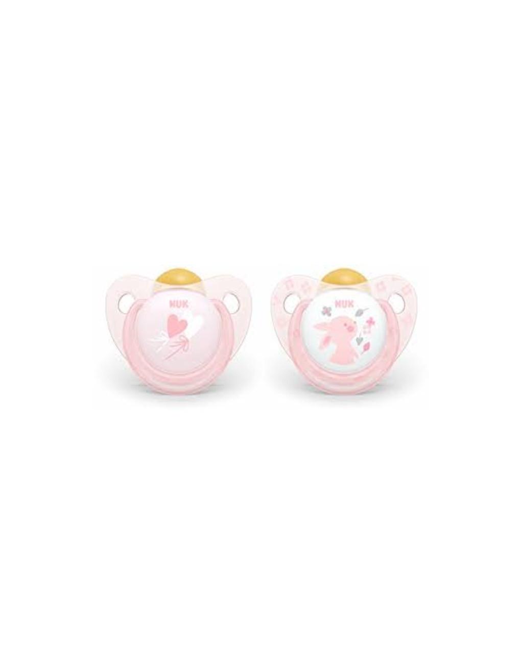 Succhietto 0-6 mesi caucciù rosa - Nuk
