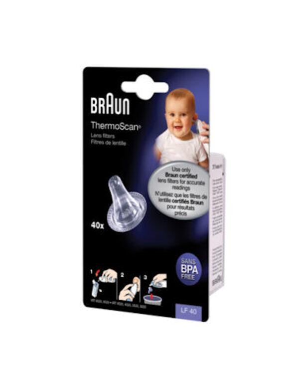 Braun cappucci per termometri, 40 pezzi - Braun