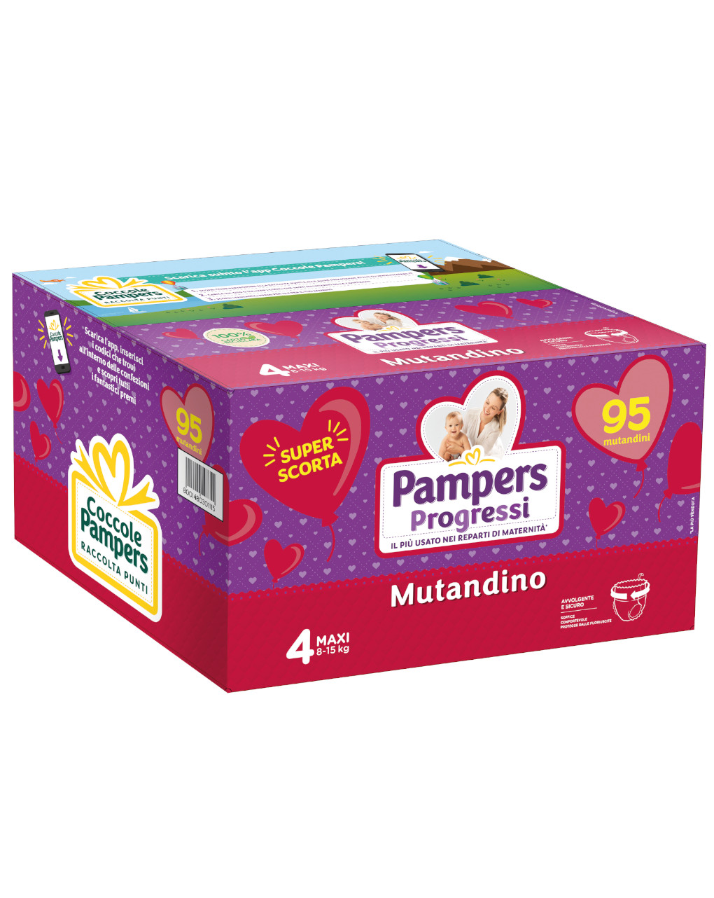Pannolini mutandino pentapack progressi tg. 4 (95 pz) - Pampers