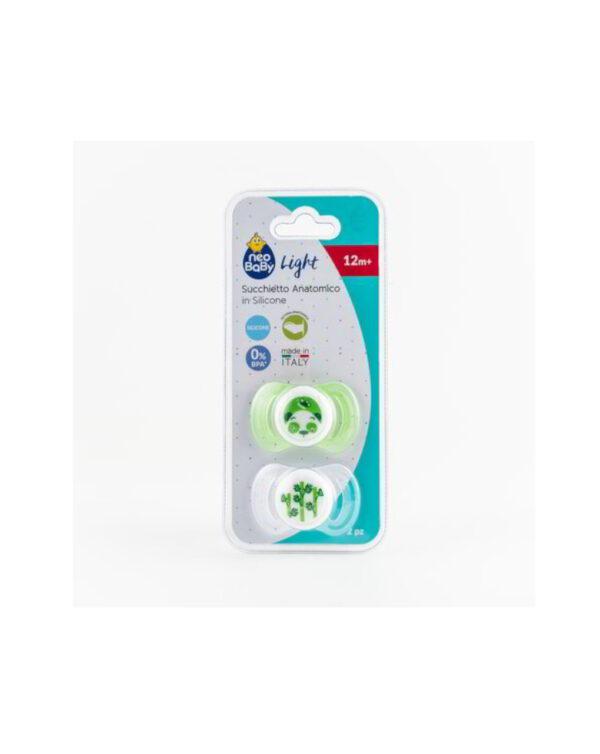 Succhietti light silicone 12m+ verde - Neo Baby