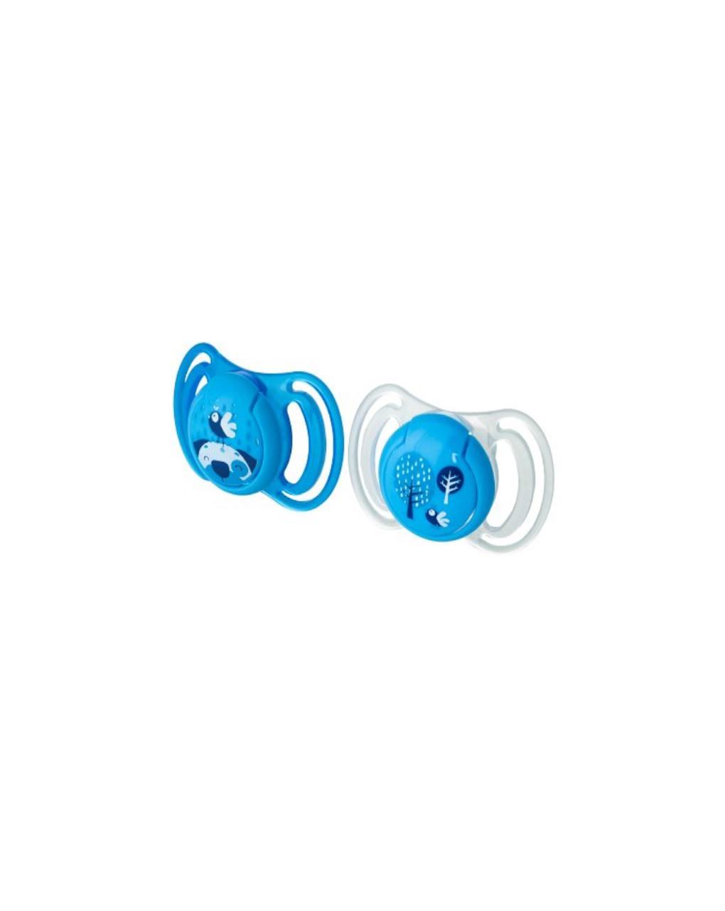 Succhietti light silicone 6m+ blu - Neo Baby