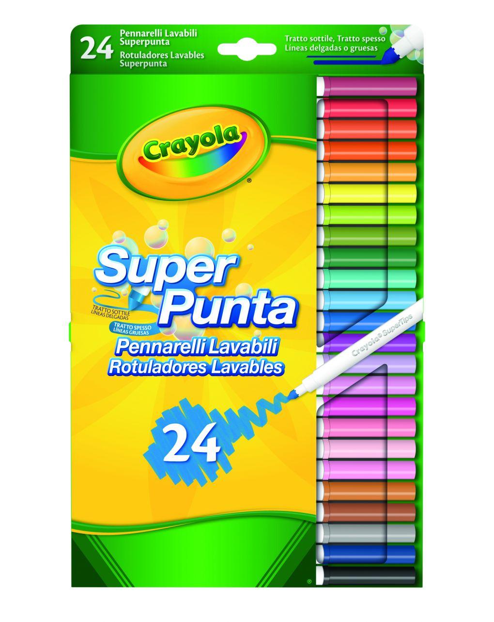 Crayola - 24 colori fibra superpunta - Crayola