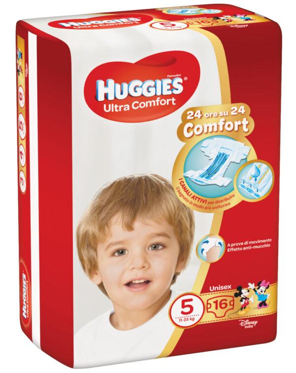 Huggies - Pannolini Ultra Comfort base tg. 5 (16 pz) - Huggies