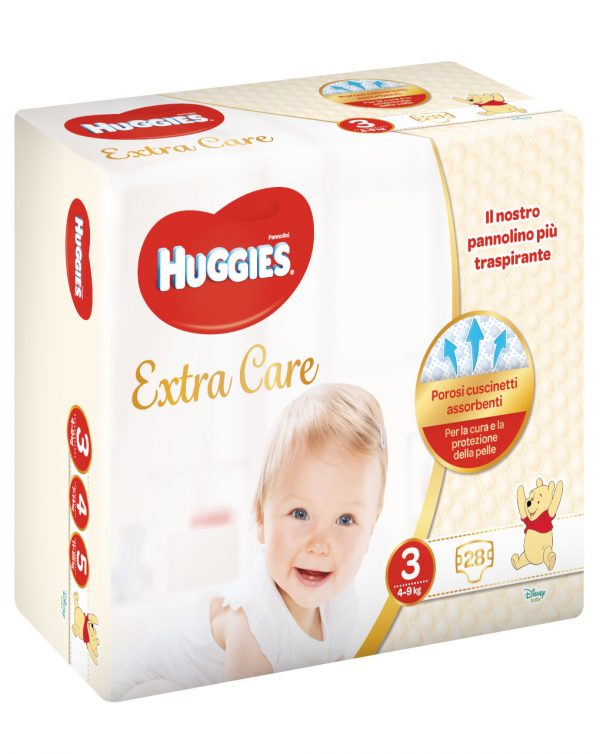 Huggies - Pannolini Extra Care medio tg. 3 (28 pz) - Huggies