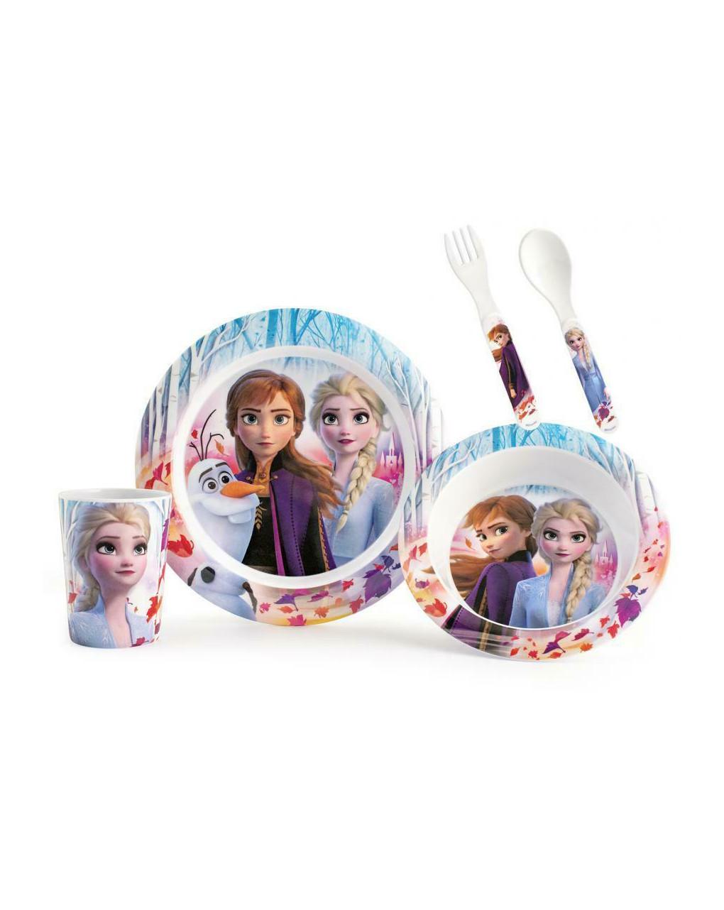 Set pappa frozen 2 disney 5 pezzi - Disney, Lulabi Disney