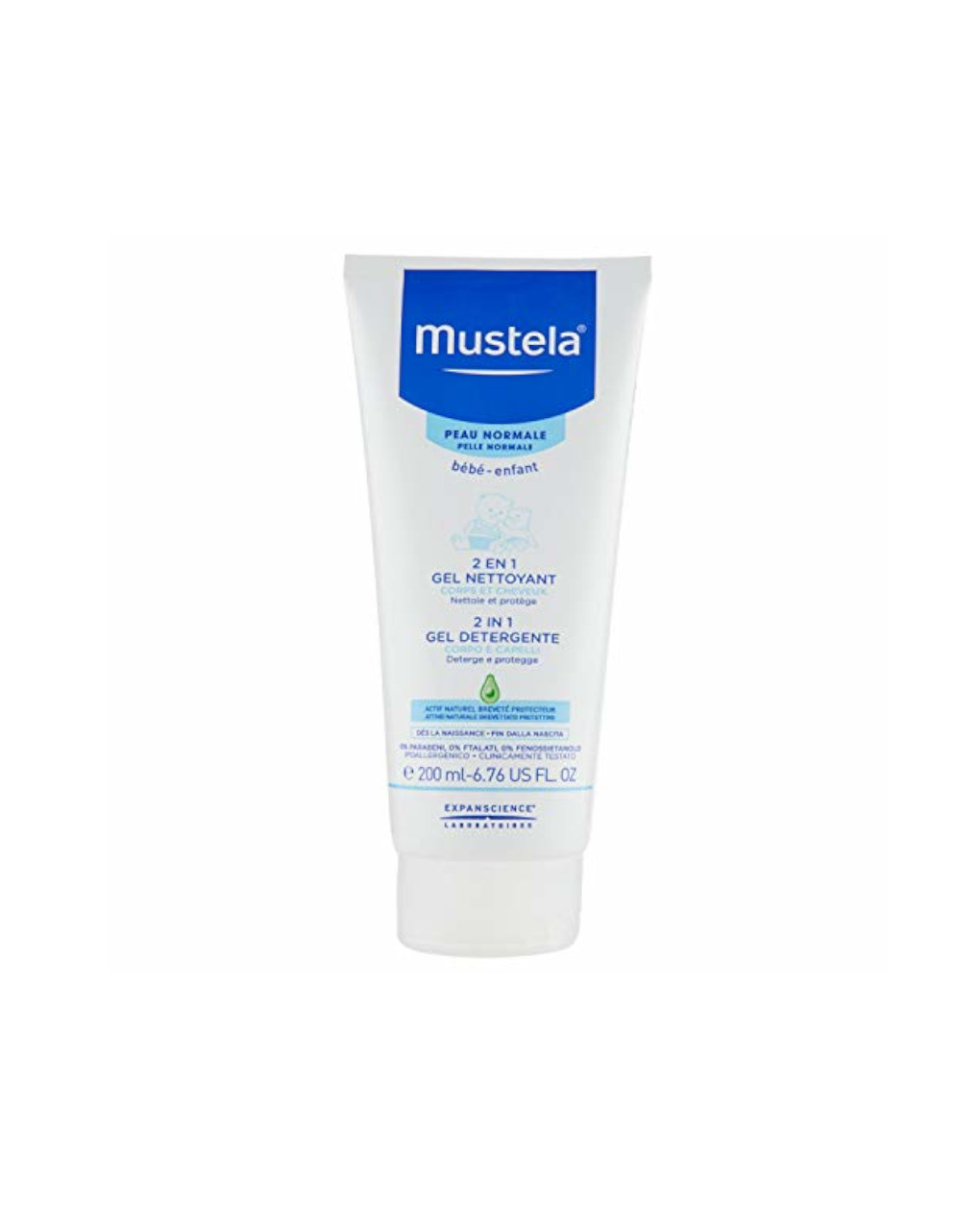 2in1 gel detergente delicato 200ml - Mustela