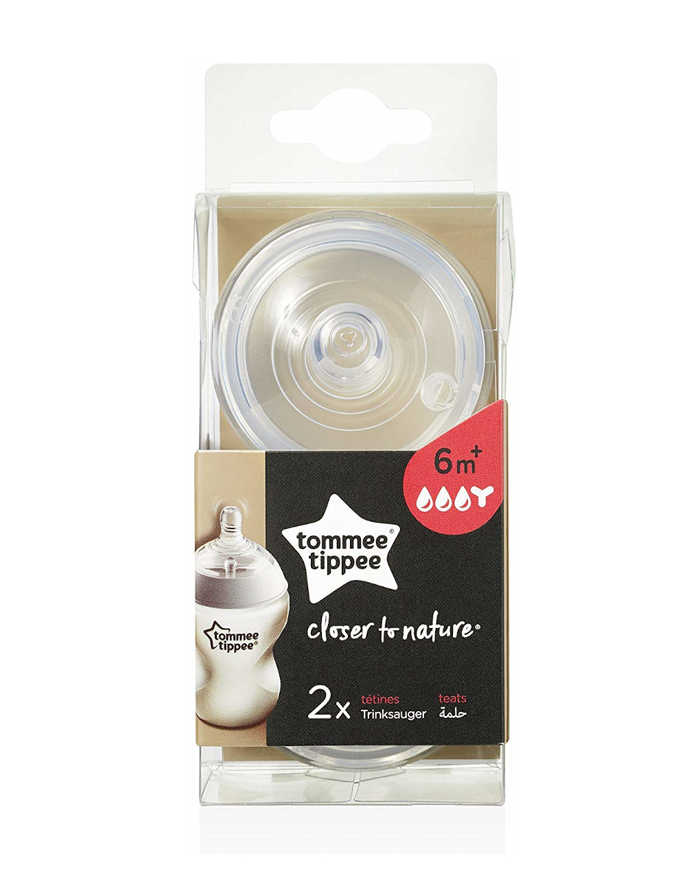 Tettarella closer to nature, flusso pappa 2pezzi tommee tippee - Tommee Tippee