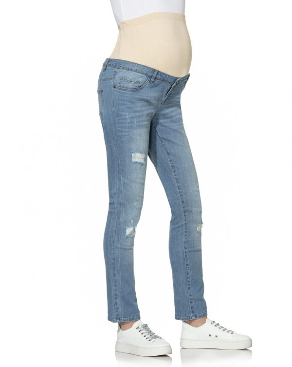 Pantaloni denim effetto rovinato - Prénatal