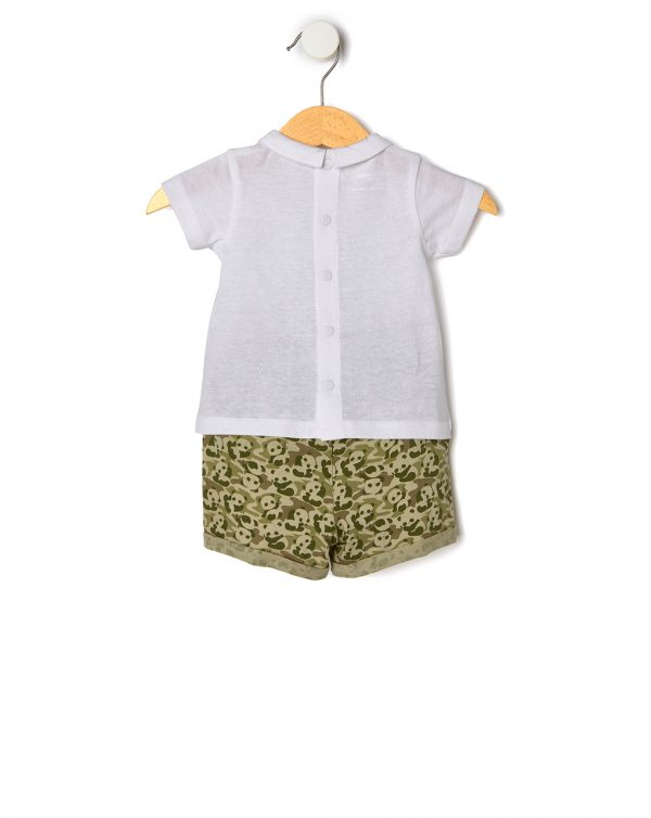 Completo t-shirt e pantaloncino con panda - Prenatal 2
