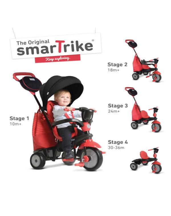 Smart Trike - Triciclo swing deluxe rosso - SmarTrike
