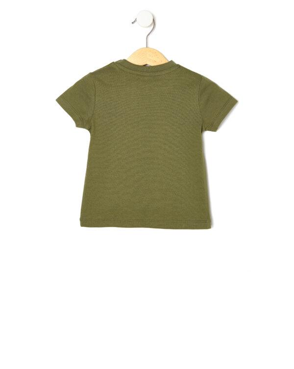 T-shirt verde con stampa giraffa - Prénatal