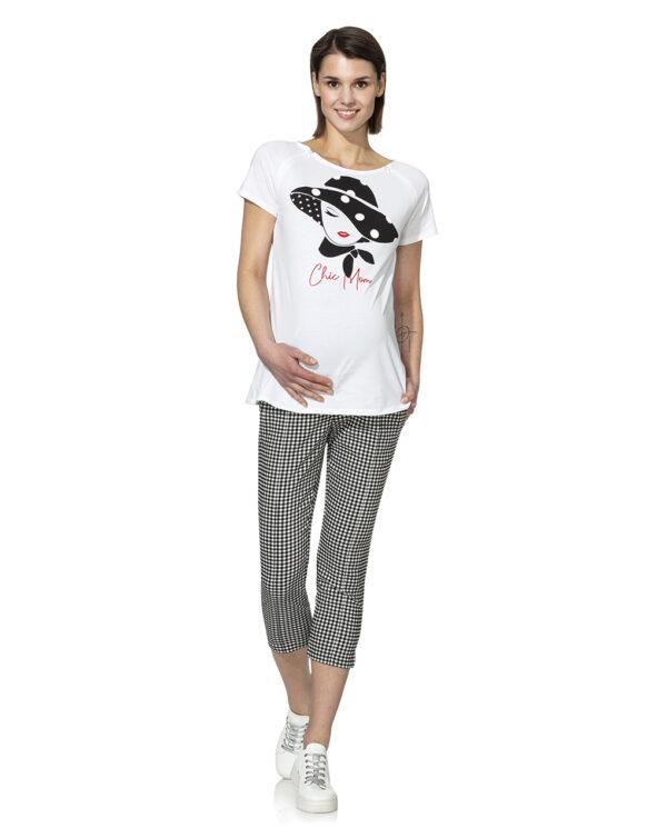 Pantaloni capri in vichy - Prénatal