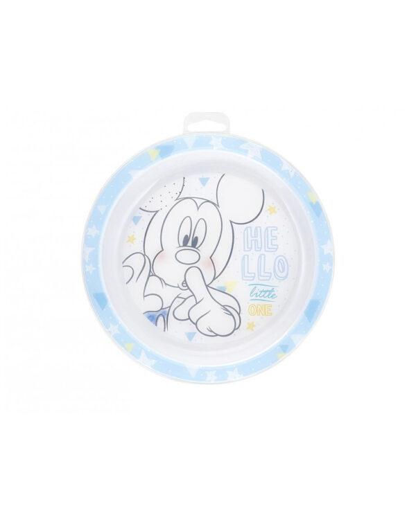 Piatto piano 21,5 cm mickey disney - Lulabi Disney