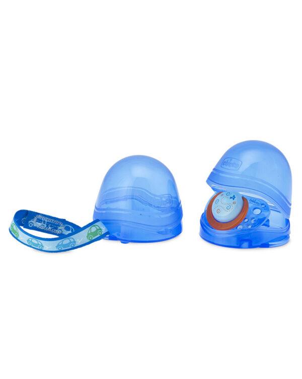 Porta succhietto doppio blu chicco - Chicco