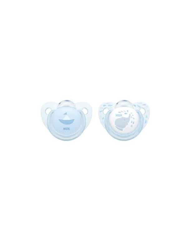 Succhietto 0-6 mesi silicone azzurro - Nuk