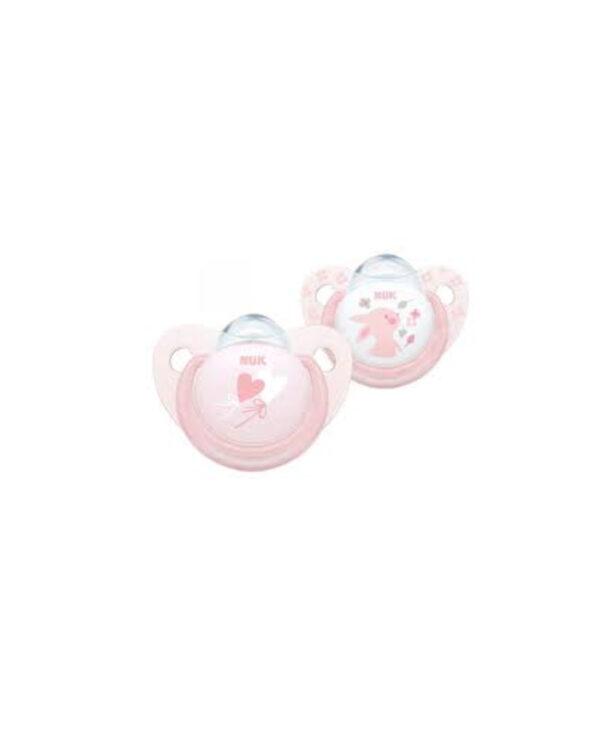 Succhietto  0-6 mesi silicone rosa - Nuk