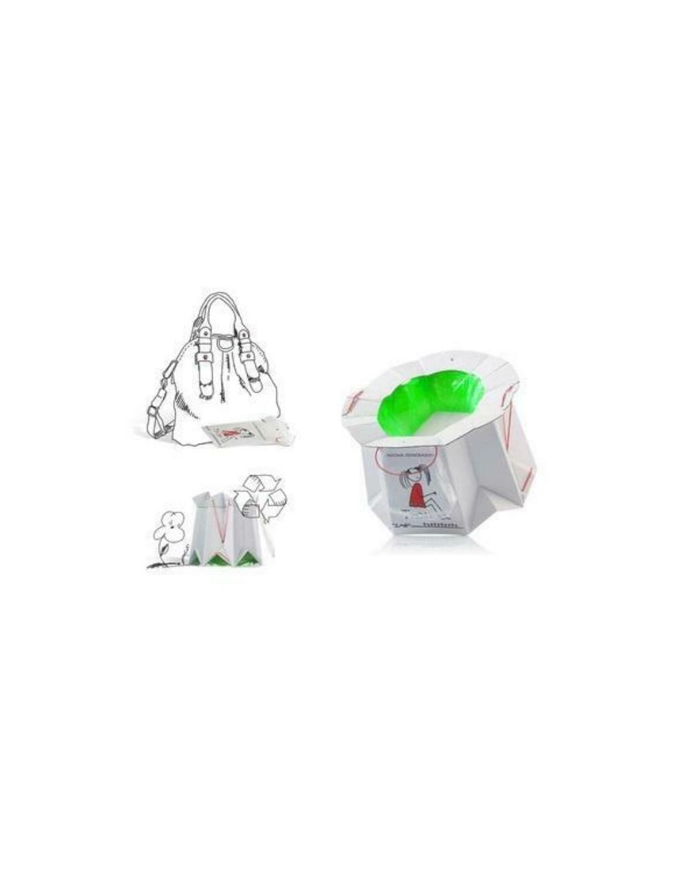 Vasino da viaggio usa e getta monouso biodegradabile per bambini - Tron