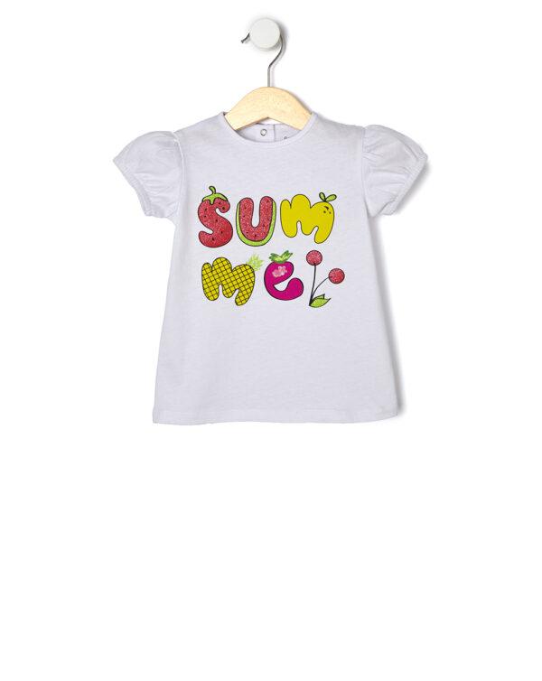 T-shirt maniche corte con stampa glitter - Prénatal