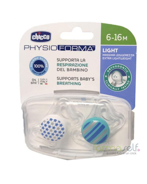 Succhiettophysio light bimbo silicone 16-36m  2 pezzi chicco - Chicco