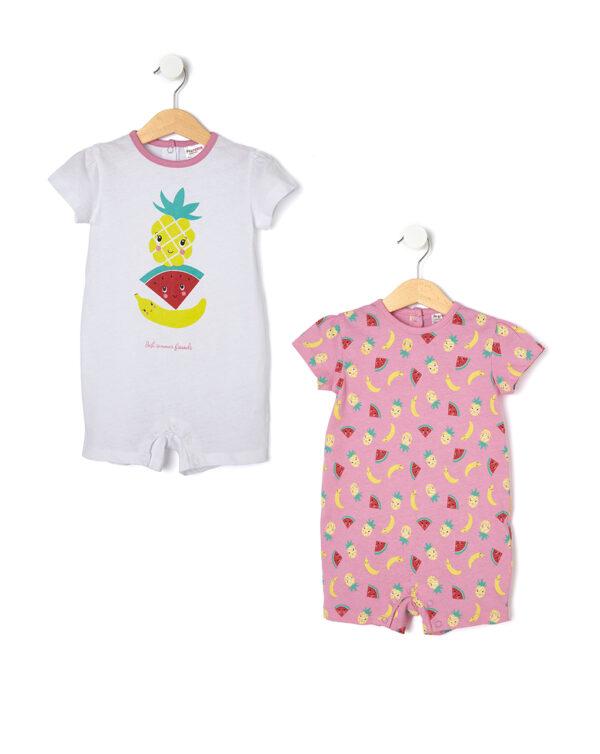 Pack 2 pezzi pigiamoni con stampa frutta - Prénatal