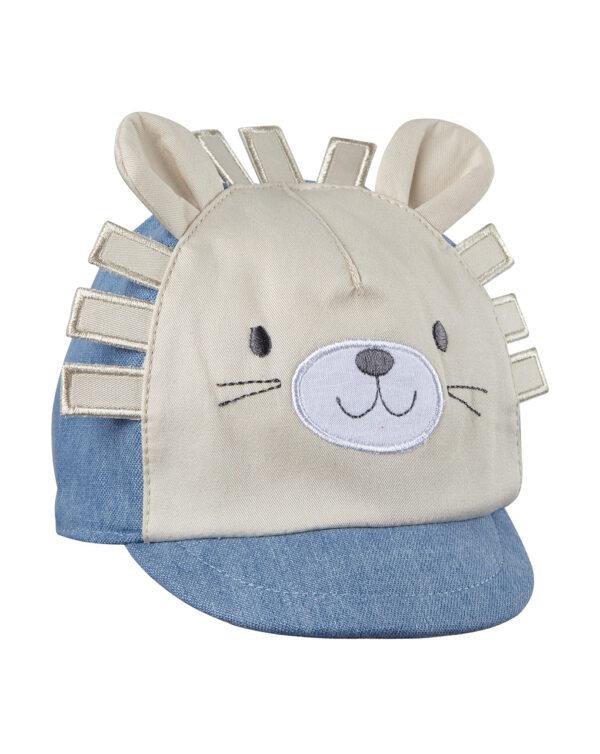 Cappello chambray con decorazione leone - Prénatal