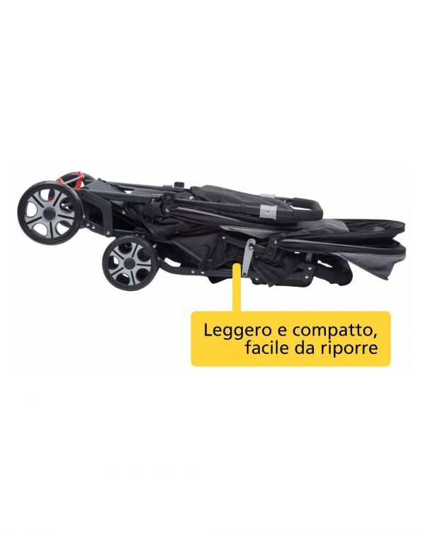 Teamy black chic passeggino gemellare - Safety 1st