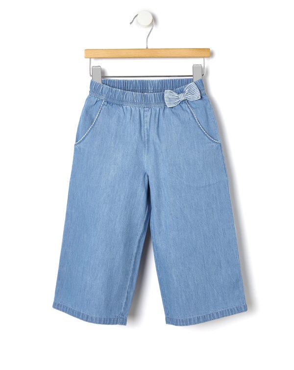 Pantalone in chambray con fiocco - Prénatal