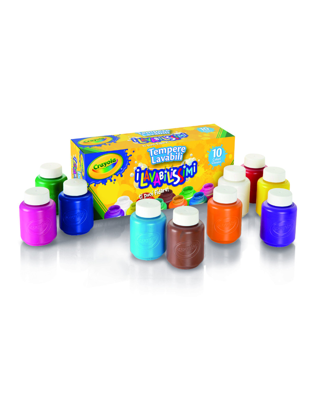 Crayola - 10 tempere lavabili - Crayola