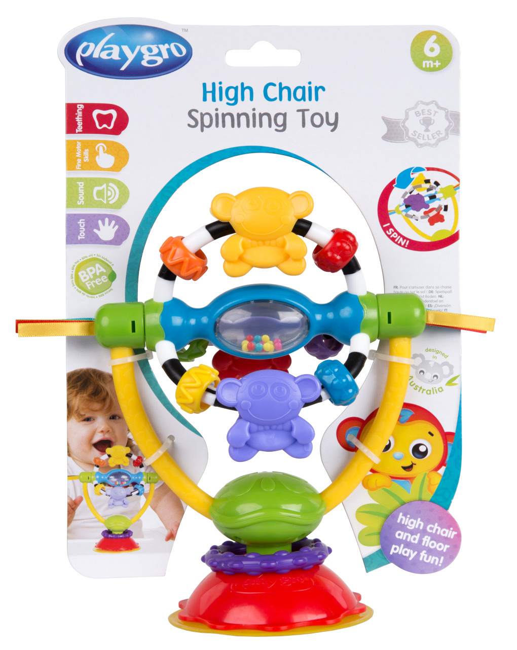 Playgro - high chair spinning toy - Playgro