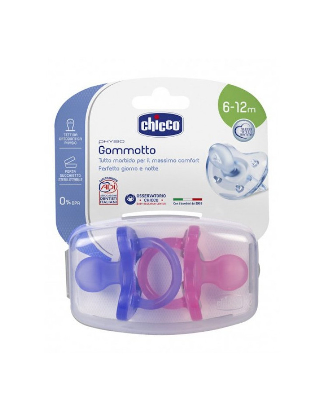 Gommotto physio silicone bimba 6-12m 2pezzi - Chicco