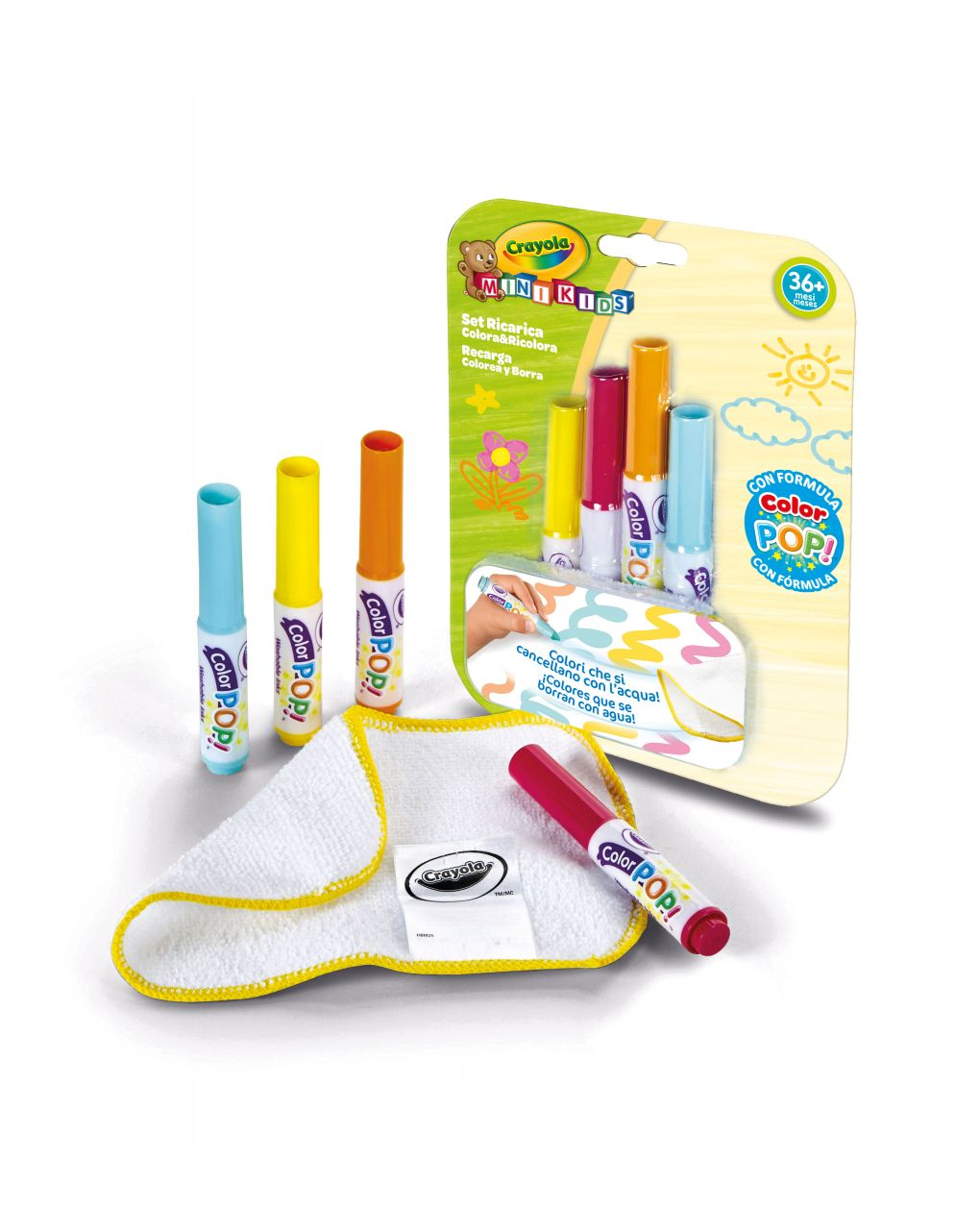 Crayola - ricarica tappetone colora & ricolora mini kids - Crayola