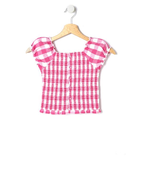 Camicia mezza manica fantasia vichy - Prénatal