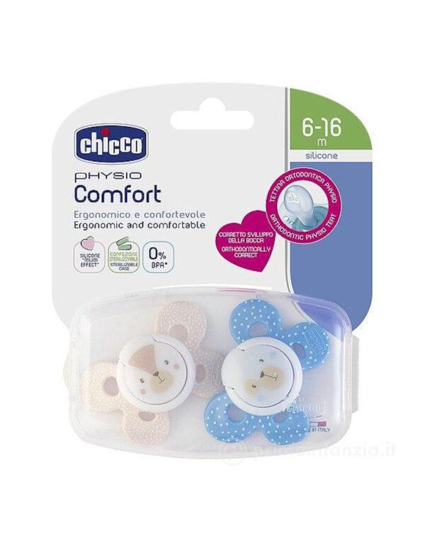 Succhietto comfort bimbo silicone 6-16m 2pezzi chicco - Chicco