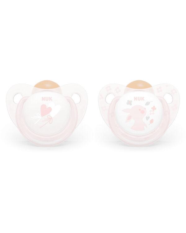 Succhietto 6-18 mesi caucciù rosa - Nuk