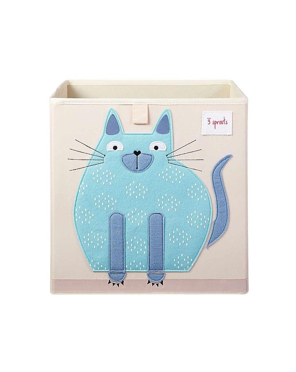 Contenitore portaoggetti gatto blu - 3 sprouts