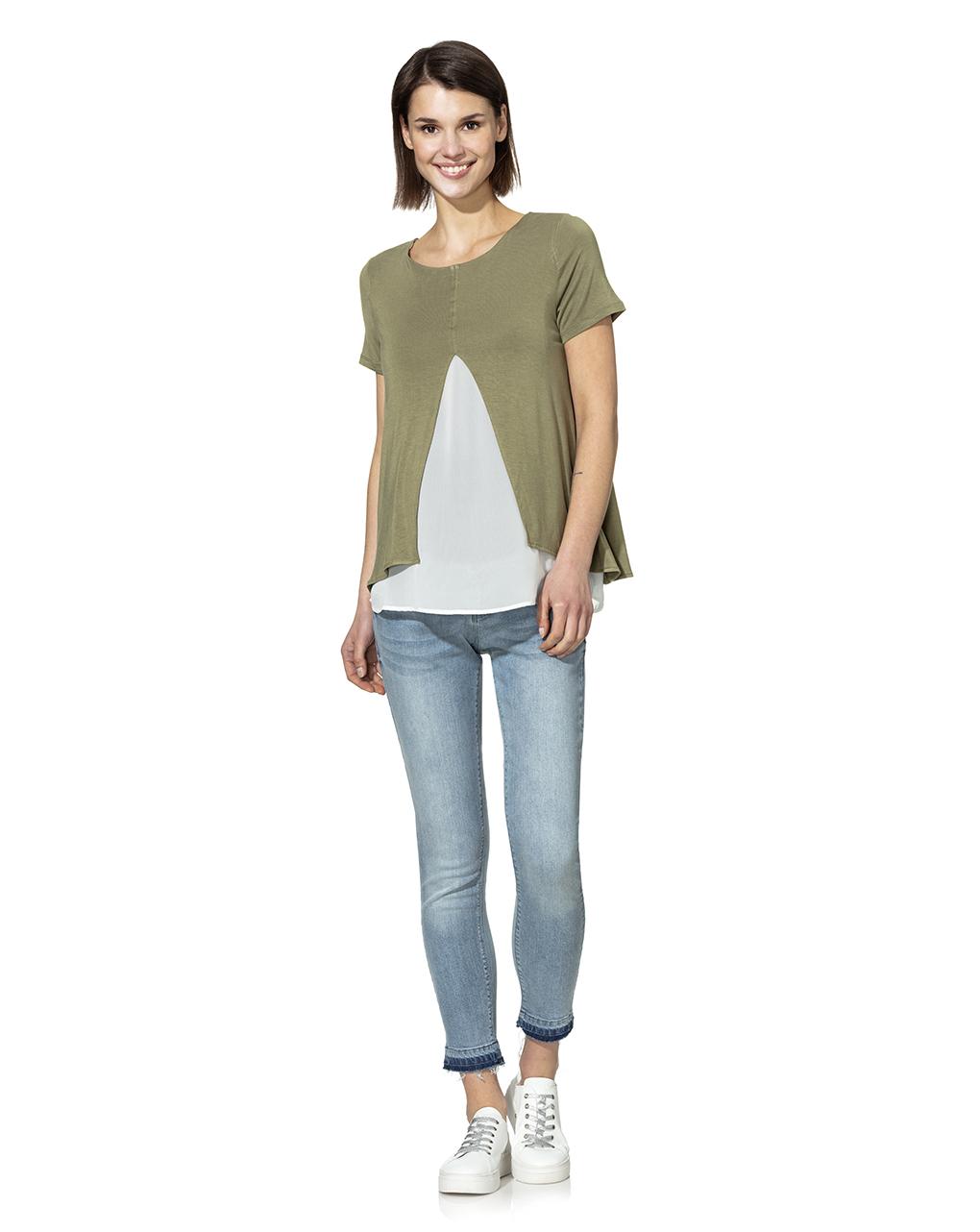 T-shirt allattamento mezza manica bicolor - Prénatal