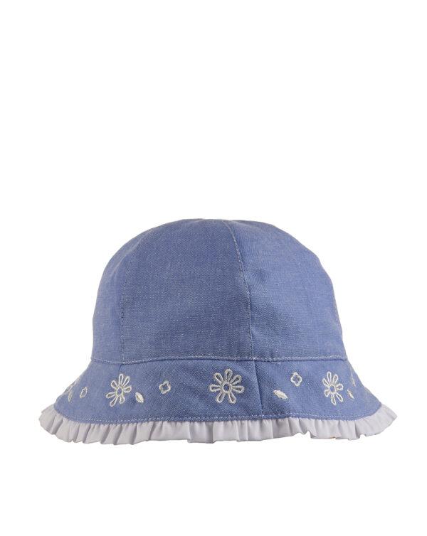 Cappellino in chambray con ricami - Prénatal